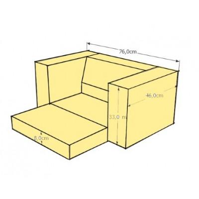 Fauteuil cube enfant