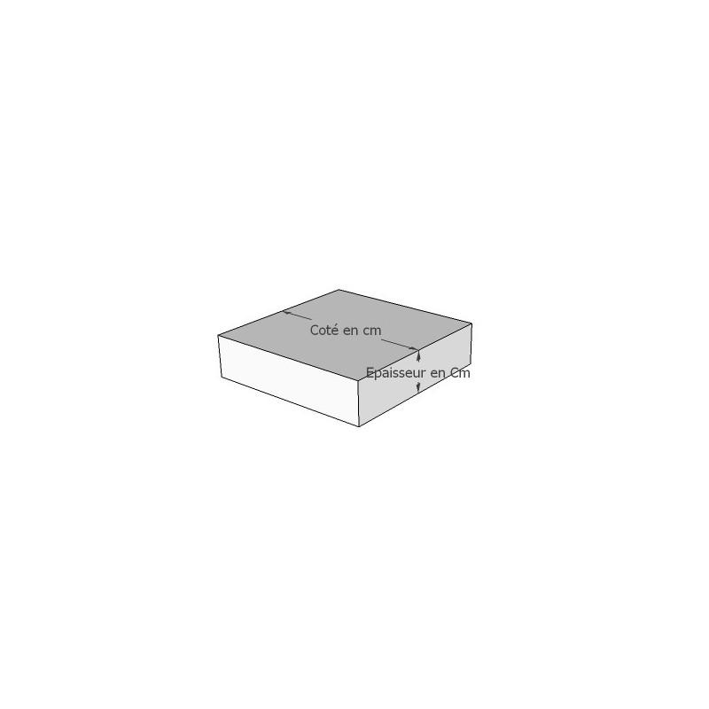 Galettes de chaise carrée sur mesure