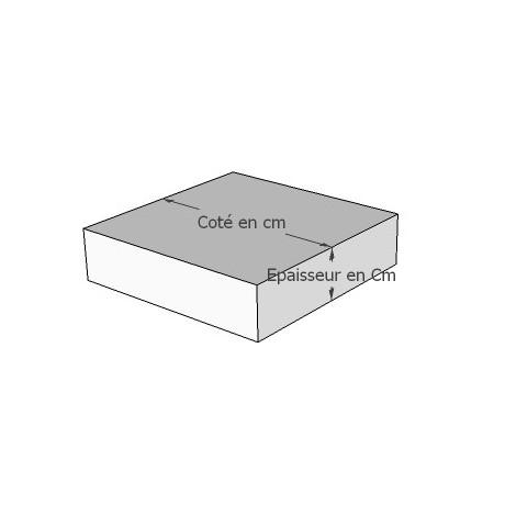 Galettes de chaise carrées sur mesure