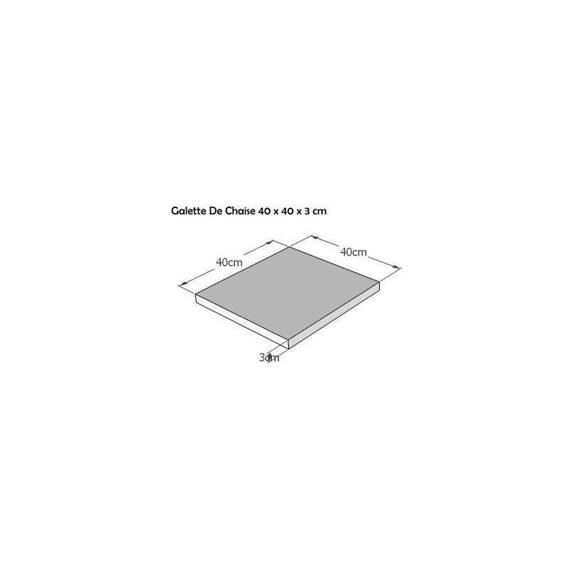 Galettes de Chaise carrée 40x40