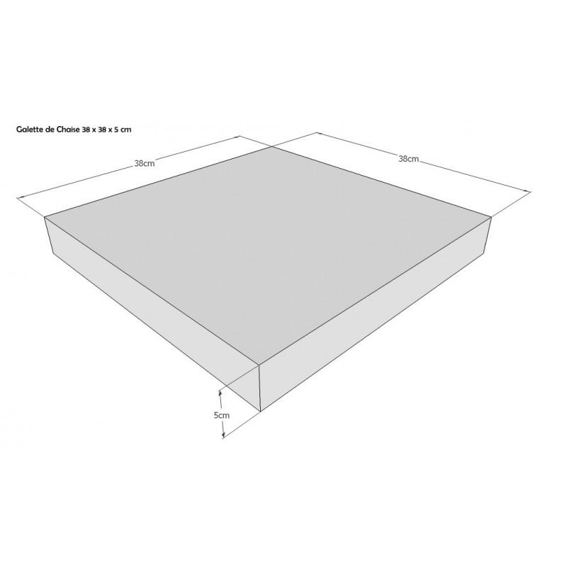 Galettes de Chaise  ou coussin de chaise carrée 38 x 38 Epaisseur Variable