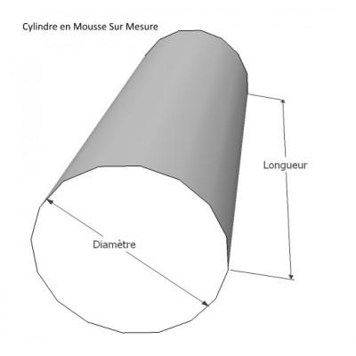 Cylindre en mousse sur mesure