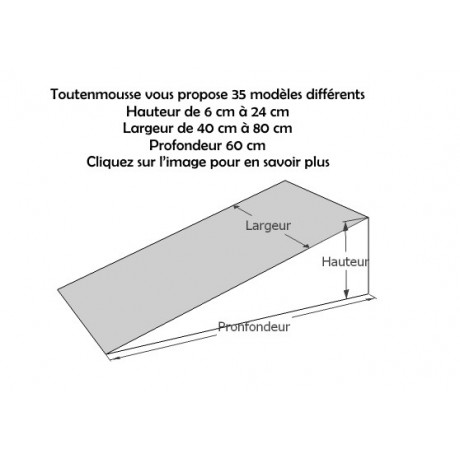 PLANS INCLINES EN MOUSSE 35 dimensions différentes