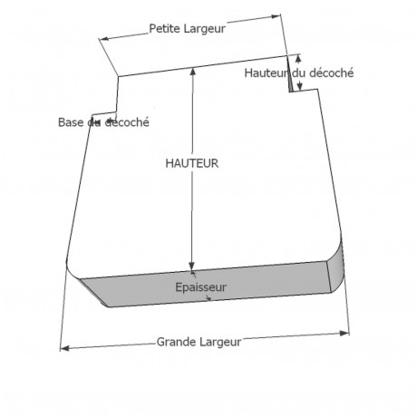 Galette en trapèze